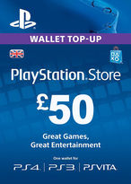 Playstation Network Top Up PS3/4/Vita £50 (Digital Product)