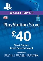 Playstation Network Top Up PS3/4/Vita £40 (Digital Product)