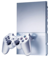 Silver PlayStation 2 Slim Console (PS2)