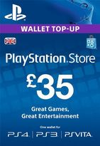 Playstation Network Top Up PS3/4/Vita £35 (Digital Product)