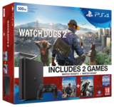 Sony Playstation 4 Slim Console - 500GB Watch Dogs 2 Bundle