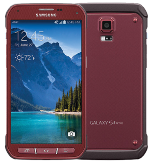 Samsung Galaxy S5 Active - 16GB Red - Unlocked